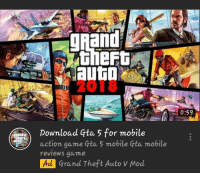 gta: 2018  0:59  Download Gta 5 for mobile  action game Gta 5 mobile Gta mobile  reviews game  Ad Grand Theft Auto V Mod