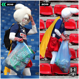 Japan fans are cleaning up World Cup stadiums again 👏: 2018  2019  ОСТАНОВИТЬСТ  S/oryCEFE 103  nacns  ach.  26  B-R  FOOTBALL  BORPE Japan fans are cleaning up World Cup stadiums again 👏