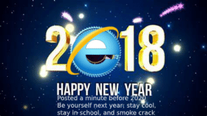 Happy New Year My Peeps!: 2018  HAPPY NEW YEAR  Posted a minute before 2020  Be yourself next year; stay cool,  stay in school, and smoke crack Happy New Year My Peeps!