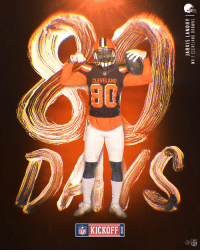 Cleveland Browns, Memes, and Browns: 2018  JARVIS LANDRY  WR CLEVELAND BROWNS T  0  2  0  2 8⃣0⃣DAYS to go!   #Kickoff2018 https://t.co/XzjrSLUzSR