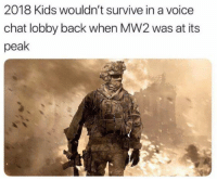 FACTS: 2018 Kids wouldn't survive in a voice  chat lobby back when MW2 was at its  peak FACTS