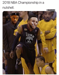 Nba, Nba Championship, and In a Nutshell: 2018 NBA Championship in a  nutshell.  @NBAMEMES  TI..  Ton  30 😭😂
