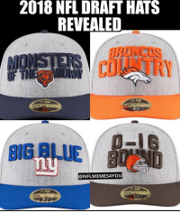 2018 NFL DRAFT HATS REVEALED BIG RLUE Ny 59 When You See It 💀  82b56f7f55c