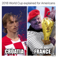 Memes, World Cup, and World: 2018 World Cup explained for Americans  CROATIAFRANCE  MADE WITH MOMUS See now I get it. 🏆⚽️