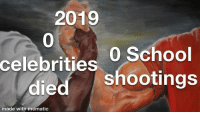 New Year's, School, and Celebrities: 2019  0  celebrities 0 School  died shootings  made with mematic New year :))
