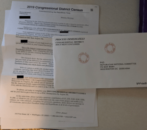 2019 Congressional District Census Commissioned By The