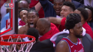 Kawhi's reaction to his game-winner is priceless: 2019 EASTEAN SENIS Kawhi's reaction to his game-winner is priceless