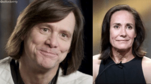 Funny Jim Carrey And Roseanne  Jim Carrey Is Turning Into Aunt Jackie