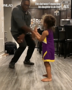 Her dad did NOT see that coming. Oh my god 😂😂: 2019  This dad wasn't expecting  his daughter to do this!| AUG  UNILAD  STEPH HAM Her dad did NOT see that coming. Oh my god 😂😂
