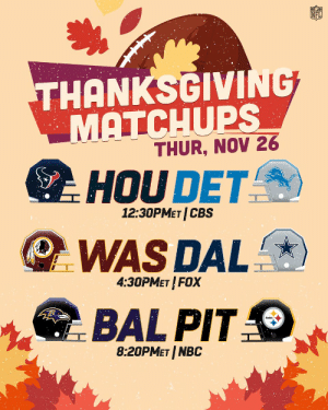 2020 Thanksgiving Matchups! 🦃🏈 https://t.co/He8ZouIhkH: 2020 Thanksgiving Matchups! 🦃🏈 https://t.co/He8ZouIhkH