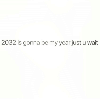Memes, 🤖, and Can: 2032 is gonna be my year just u wait I can FEEL it!!! 😂😂😂(@scouse_ma)