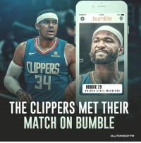 Don't worry, there are 29 other teams who will get to swipe on Boogie-Warriors 😉 — @warriorsnation_gs @bumble: 21:00  100%  bumble  bumble  TUPPERS  BOOGIE 29  GOLDEN STATE WARRIORS  THE CLIPPERS MET THEIR  MATCH ON BUMBLE  CL  UTCHPOTNTS Don't worry, there are 29 other teams who will get to swipe on Boogie-Warriors 😉 — @warriorsnation_gs @bumble