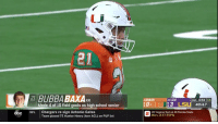 Bubba Baxa went 4/10 as a High School Senior and still went to a D1 football program.  NEVER GIVE UP ON YOUR DREAMS, KIDS! 🏈🙌 https://t.co/XCNMTA3EFE: 21  21 BUBBA BAXAFR  8MIAMI  25LSU  1st 6:54 15  Made 4 of 10 field goals as high school senior  3 LSL 4th & 7  abc NFL Chargers re-sign Antonio Gates  20 Virginia Tech at 19 Florida State  Mon., 8 ET ESPN  Team placed TE Hunter Henry (torn ACL) on PUP list Bubba Baxa went 4/10 as a High School Senior and still went to a D1 football program.  NEVER GIVE UP ON YOUR DREAMS, KIDS! 🏈🙌 https://t.co/XCNMTA3EFE