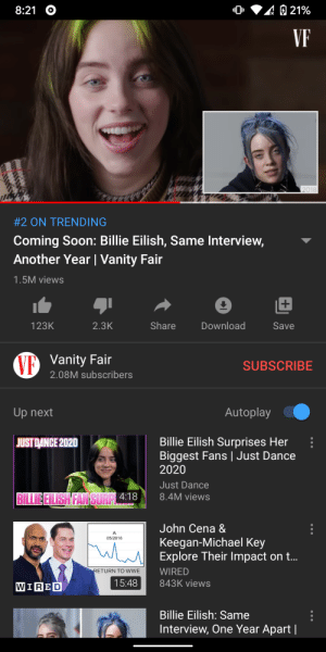 """Be Like, John Cena, and Soon...: 21%  8:21  VF  2018  #2 ON TRENDING  Coming Soon: Billie Eilish, Same Interview,  Another Year 