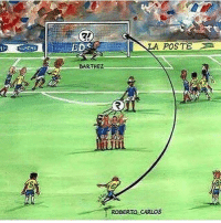 Memes, Goal, and Never: 21  ESD  LA POSTE  BARTHEZ  ROBERTO CARLOS A goal we will never forget 😍🇧🇷 RobertoCarlos