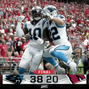 .@KyleAllen_10's 4 TDs lead the @Panthers over the Cardinals! #CARvsAZ https://t.co/JJNKe70HHo: 21  FINAL  ATS  38 20 .@KyleAllen_10's 4 TDs lead the @Panthers over the Cardinals! #CARvsAZ https://t.co/JJNKe70HHo