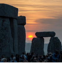 Memes, Summer, and Moon: 21 JUN: About 13,000 people watched the sunrise at Stonehenge on Wednesday morning, on the longest day of the year. The sun rose at the historic monument in Wiltshire at 04:52 BST. English Heritage opens the site up every year for the solstice, giving people a rare chance to get up close to the monument. More than a million people each year flock to the neolithic site, built more than 4,000 years ago. It is thought ancient Britons built the massive monument as a religious site, to study and celebrate the movements of the sun and moon, or as a place of burial or healing. PHOTO: CHRIS J RATCLIFFE-AFP BBCSnapshot photography summer solstice longestday Stonehenge monument neolithic