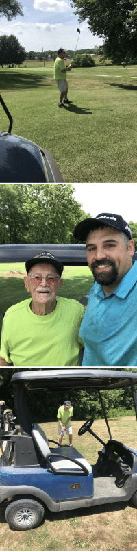 Reddit, Golf, and Old: 21 When a 99 year old WWII veteran, who served at Normandy, asks to play golf with you on the way to the first tee the only answer is yes! Reddit, meet Earl!