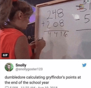 Where are all my 🐍 at by fatehpuria92 MORE MEMES: 218  411  GIF  Snolly  @snollygoster123  dumbledore calculating gryffindor's points at  the end of the school year Where are all my 🐍 at by fatehpuria92 MORE MEMES
