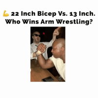 """Memes, Wrestling, and Maniacal: 22 Inch Bicep Vs. 13 Inch.  Who Wins Arm Wrestling? 6'6"""" 315 lbs. Rome or Zack. Who you got? 😂 (ignore my maniacal laughter at the end)... romevszack"""