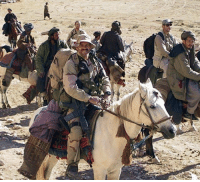 Memes, Period, and All That: 22 OCTOBER 2001 TEAM ALPHA RIDES INTO BATTLE ON HORSEBACK. Team Alpha, TF Dagger, traveling on horseback in support of Dostum's cavalry, decisively demonstrated to the Afghans the U.S. commitment to their cause. From an OP near the villages of Cobaki and Oimatan, team members began systematically calling in CAS missions - In one eighteen-hour period they destroyed over twenty armored and twenty support vehicles using close air support. At first the Taliban responded by reinforcing its troops, sending reserves into the area from Sholgara, Mazar-e Sharif, and Kholm. All that did was provide more targets for the CAS aircraft circling overhead and called into action by the SF team on the ground. Numerous key command posts, armored vehicles, troop concentrations, and antiaircraft artillery pieces were destroyed.
