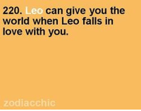 Love, Work, and Free: 220.  Leo  can give you the  world when Leo falls in  love with you.  zodiac chic May 20, 2017. It is possible that you will finish your shift at work early. You already did most of the important things, there are no new obligations, so  .. ...FOR FULL HOROSCOPE VISIT: http://horoscope-daily-free.net/leo