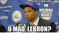 Michael Carter-Williams & 76ers Nation beats Heat Nation!: 222 PTS, 12 ASTS, 9 STL & TREBS  ON  OPENING  @NBAHUMOR  NIGHT  UMAD LEBRON? Michael Carter-Williams & 76ers Nation beats Heat Nation!