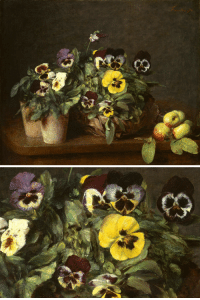Life, Tumblr, and Blog: 227 spoutziki-art:Henri Fantin-Latour - Still Life with Pansies, 1874 (and detail)