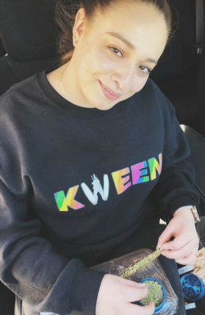 22ndandeverett:Weed Kween Sweater available at 22nd and Everett : 22ndandeverett:Weed Kween Sweater available at 22nd and Everett