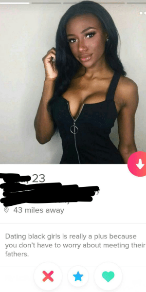 Dating, Girls, and Black: 23  43 miles away  Dating black girls is really a plus because  you don't have to worry about meeting their  fathers. Well then.