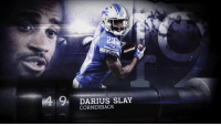"Memes, Lions, and 🤖: 23  9,  DARIUS SLAY  CORNERBACK Why does @Lions CB Darius Slay (@_bigplayslay23) demand to cover every opponent's top WR?  Simple.   ""I'm trying to get a gold jacket."" #NFLTop100 https://t.co/TZyGIbIu5L"