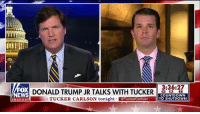 "Countdown, Donald Trump, and Family: 23  A4l  3:36:27  FOX  NEWS  DONALD TRUMP JR TALKS WITH TUCKERCT  TUCKER CARLSON tonight TuckerCarlson  COUNTDOWN  TO SHUTDOWN  channel ""The interesting thing about it is the only collusion, the only shadiness, the only thing that's been discovered is what the prior administration, the DNC and all of them have done."" @donaldjtrumpjr joined @tuckercarlsontonight to discuss the Mueller investigation, the ""witch hunt"" that the Trump family has endured, and the FISA memo."
