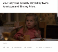 23 Holly Was Actually Played By Twins Anniston And Tinsley Price