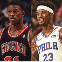 Jimmy Butler, Nba, and Texas: 23 Jimmy Butler made his NBA debut on this day in 2012.  His road to get there was incredible.  -No. 73 SG in Texas  -No D-I offers  -Went to JuCo  -Faxed acceptance to Marquette from McDonald's  -Had no idea he was an NBA prospect