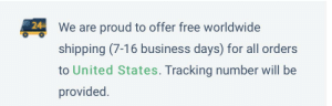 Facepalm, Business, and Free: 24  We are proud to offer free worldwide  shipping (7-16 business days) for all orders  to United States. Tracking number will be  provided. Unclear on the concept?