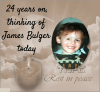 Memes, 🤖, and Old Boy: 24 years on  thinking of  James Bulger  today  Okast in padco 24 years ago, James Bulger aged only 2yrs old from Liverpool, was abducted, tortured and murdered by two ten-year-old boys. 24 years later he is still sorely missed and our thoughts with him, his family and friends. RIP LITTLE MAN