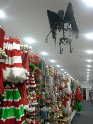 Christmas, Halloween, and Tumblr: 24149 h-a-l-l-o-w-e-e-n:  ciphernetics:  Ah, the Christmas season. All my childhood favourites are here- Santa, Rudolph, Frosty, the Angel of Death   HALLOWEEN NEVER ENDS