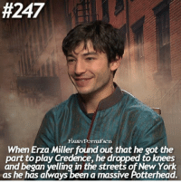 + 🍂|| if I got a role like that I'd totally just drop to my knees and cry my heart out:  #247  When Erza Miller found out that he got the  part to play Credence, he dropped to knees  and began yelling in the st  of New York  as he has always been a massive Aotterhead. + 🍂|| if I got a role like that I'd totally just drop to my knees and cry my heart out