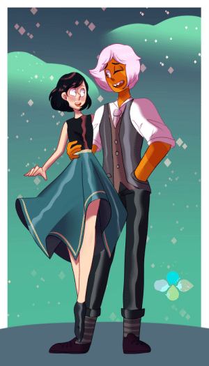 Beautiful, Tumblr, and Wow: 24cr:  commission for @doodlin-doods of their Jasper with @randomnightlord's OC Mina!  Wow this is beautiful 😮❤️