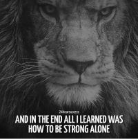 Being Alone, Memes, and How To: 24hoursuccess  AND IN THE END ALL ILEARNED WAS  HOW TO BE STRONG ALONE Via @school4success: Standing alone doesn't mean I'm alone. It means I'm strong enough to handle things all by myself... . 📷 belongs to respective owner 👌