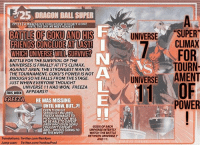 /25 DRAGON BALL SUPERN  EP131ARAOOSE GOKU  900-930 n Ful TV  BATTLE OF GOKU ANDHS  FRIENDS CONCLUDE AT LAST  WHICH UNIVERSE WILL SURVIVE?  UNIVERSE SUPER  CLIMAX  BATTLE FOR THE SURVIVAL OF THE  UNIVERSES IS FINALLY AT IT'S CLIMAX  AGAINST JIREN, THE STRONGEST MAN IN  THE TOURNAMENT, GOKU'S POWER IS NOT  ENOUGH SO HE FALLS FROM THE STAGE  JUST WHEN EVERYONE THOUGHT  FOR  TOURN  A S  , WNIVERSES AMENT  1 OF  UNIVERSE 11 HAD WON, FREEZA  THIS WEEK APPEARS?!  FREEZA HE WAS MISSING  POWER  UNTIL NOW, BUT..P!  EVEN THOUGH  SERIOUSLY INJURED  FREEZA MANAGES TO  PICK HIMSELF UP. WILL  HE BE ABLE TO DEFEAT  JIREN WHO EVEN GOKU  COULDN'T DEFEAT?  AND... WHO IS GOING TO  BE THEMVP?  GODS OF EACH  UNIVERSE INTENTLY  WATCH THE BATTLE  BETWEEN UNIVERSE 7  AND 11.  Translations:Twitter.com/KenXyro  Jump scan: Twitter.com/YonkouProd (DBS EP 131 INFO) It's Been A LONG RIDE!!!!! But This Where It Comes To Close But Hopefully FOR NOW!!!!!! DB IS STILL ON FOREVER!!!! ✊🏾💯✊🏾💯✊🏾💯👊🏾🔥💯💪🏾👊🏾🔥💯👊🏾💪🏾💯👊🏾💪🏾🔥💯🔥💯 dbs dbsuper dragonballsuper db dragonball dbz dragonballz goku jiren universe7 universe11 frieza andorid17 universalsurvivalarc tournamentofpower dbzforlife dbforever dbforlife dbslivemore akiratoriyama toeianimation