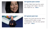 eatyourdinnerjoseph:rachel—duncan:  peacocktales:toiletpaperlint:tommilsom:patronsaintoffirebenders:  oh  oh  oh  What wage gap   There is no war in Ba Sing Se: 25 highest-paid women  Oracle's Safra Catz tops this year's  else made the cut. More  25 highest-paid men  Apple's Tim Cook tops the list, with a  big in 2011. More eatyourdinnerjoseph:rachel—duncan:  peacocktales:toiletpaperlint:tommilsom:patronsaintoffirebenders:  oh  oh  oh  What wage gap   There is no war in Ba Sing Se