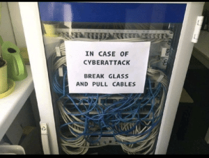 Best, Break, and Iso: 25  IN CASE OF  CYBERATTACK  BREAK GLASS  AND PULL CABLES ISO/IEC 27001:2019 Best Practice A.6.17