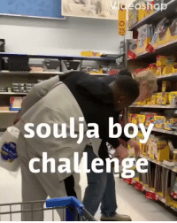 Funny, Wal Mart, and Challenge: 25  soulia bo  challenge Funnyboy trying out the #SouljaBoyChallenge at Wal-Mart! 😳😩😂 @funny_marco https://t.co/XCADmNpDbp