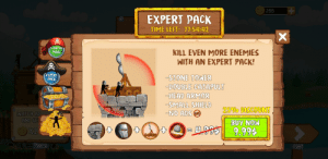 Head, Reddit, and Time: 255  EXPERT PACK  TIME LEFT: 71:54:42  STARTER  PACK  KILL EVEN MORE ENEMIES  WITH AN EXPERT PACK!  EXPERT  PACK  STONE TONER  -DOUBLE CATAPULT  HEAD ARMOR  -SMALL SHIELD  NO ADS S  25% DISCOUNTS  WATCH AD  AND GE  BUY NOW  )X2  9.99  (eX A yes a discount