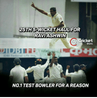 Ashwin Ravi gets his 25th 5 wicket haul today!: 25TH 5GWWICKET HAUL  FOR  RAVIASHWIN  Cricket  Shots  No.1 TEST BOWLER FORA REASON Ashwin Ravi gets his 25th 5 wicket haul today!