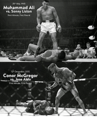 Legendary 💯 That Moment when History was Made 👊 (No Comparison to Each Fighter Here Just the Moment) Maker: Unknown _________________________________: 25th May, 1965  Muhammad Ali  vs. Sonny Liston  First Minute, First Round  12 December, 2015  Conor McGregor  vs. Jose Aldo  First Minute, First Rou Legendary 💯 That Moment when History was Made 👊 (No Comparison to Each Fighter Here Just the Moment) Maker: Unknown _________________________________