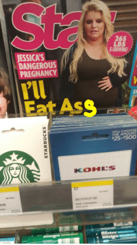 Ass, Funny, and Ted: 265  LBS  GROWING  2  JESSICA'S  DANGEROUS  PREGNANCY  rll  Eat AsS  $1  YOU CHOOSE  THE AMOUNT  $25-$50O  KOHLS  UNIT PRICE  D NON  UIRED  10-81-52-P  . Blistex  TED