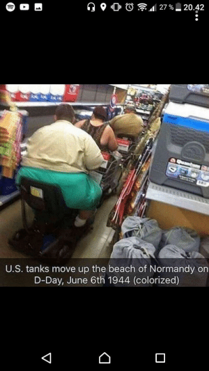 Reddit, Beach, and Never: 27 %  20.42  U.S. tanks move up the beach of Normandy on  D-Day, June 6th 1944 (colorized)  ... War never changes