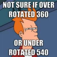 Bmx, Prob, and Surely: NOT SURE IF OVER  ROTATED 360  OR UNDER  ROTATED 540 just an under rotated 1080 prob.  ~LANK
